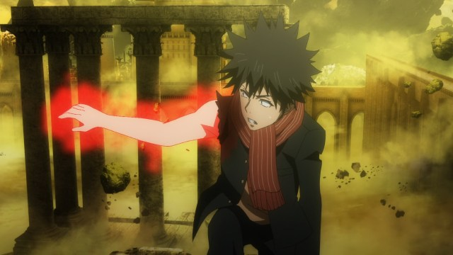 What is inside Touma's right hand? | Kakera Complex